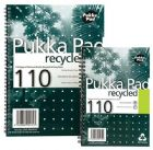 Pukka Pad Notebook Recycled Wirebound Perforated Punched Ruled 110pp 80gsm A5 Ref RCA5/110 [Pack 3]